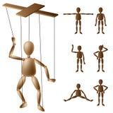 De reeks van de marionetmarionet Stock Foto