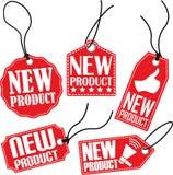 De reeks van de nieuw productmarkering, vectorillustratie Stock Foto