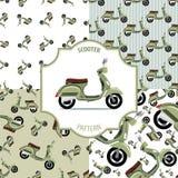 De reeks van de patroonautoped, nummer 1 Royalty-vrije Stock Afbeeldingen