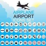 De reeks van de pictogramluchthaven Stock Afbeelding