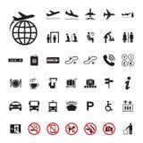 De reeks van de pictogramluchthaven Stock Foto