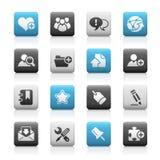 De Reeks van de Pictogrammen van de Steen van Internet & van Blog // stock illustratie