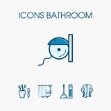 De reeks van de pictogrammenbadkamers Royalty-vrije Stock Foto's