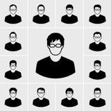 De reeks van de pictogrammenmens Stock Foto
