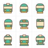 De Reeks van de pictogrammenstijl vervoerpictogrammen Royalty-vrije Stock Afbeelding