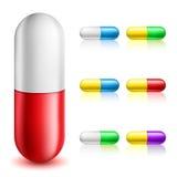 De reeks van de pillencapsule vector illustratie