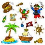 De reeks van de piraat Stock Fotografie