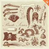 De Reeks van de piraat Royalty-vrije Stock Afbeelding