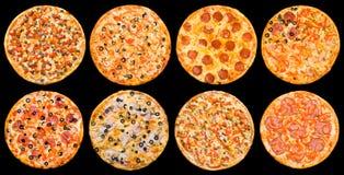 De reeks van de pizza Royalty-vrije Stock Afbeelding