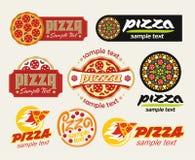 De reeks van de pizza Royalty-vrije Stock Afbeeldingen