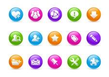 De Reeks van de Regenboog van Internet & van Blog // vector illustratie