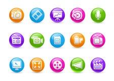 De Reeks van de Regenboog van // Pictogrammen van de van verschillende media van het Web Royalty-vrije Stock Fotografie