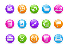 De Reeks van de Regenboog van // van de interface stock illustratie
