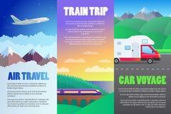 De reeks van de reisillustratie Stock Afbeelding