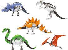 De reeks van de robotdinosaurus Stock Afbeelding