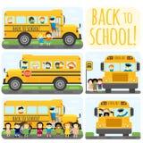 De reeks van de schoolbus royalty-vrije illustratie