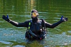 De Reeks van de scuba-uitrusting Royalty-vrije Stock Afbeeldingen
