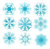 De reeks van de sneeuwvlok Stock Afbeelding