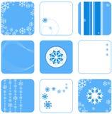 De reeks van de sneeuwvlok   Royalty-vrije Stock Fotografie