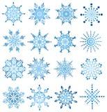 De reeks van de sneeuwvlok stock illustratie
