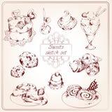 De reeks van de snoepjesschets Royalty-vrije Stock Afbeeldingen