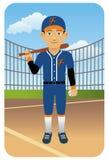 De reeks van de sport: De speler van het honkbal Stock Afbeelding