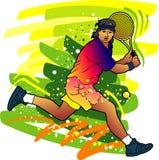 De reeks van de sport: De speler van het tennis Royalty-vrije Stock Afbeeldingen