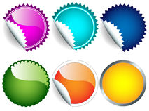 De reeks van de sticker Stock Afbeelding