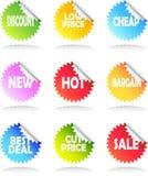 De Reeks van de Sticker van de verkoop Stock Foto