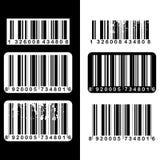 De reeks van de streepjescode Stock Afbeelding