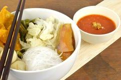 De reeks van de Sukimaaltijd. Aziatische voedselstijl. Royalty-vrije Stock Afbeelding