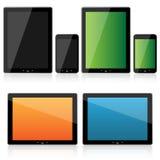 De reeks van de tablet en van smartphone Stock Afbeeldingen