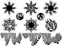 De reeks van de tatoegering Stock Illustratie