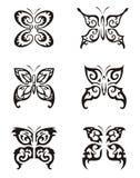 De Reeks van de Tatoegering van de vlinder Stock Afbeelding