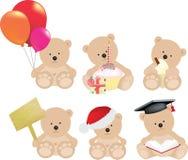 De reeks van de teddybeer Stock Afbeeldingen