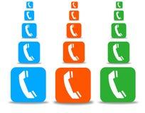 De reeks van de telefoon vector illustratie