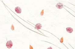 De Reeks van de textuur - Witboek met Bloemen Royalty-vrije Stock Afbeelding