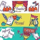 De Reeks van de theaterbanner Stock Fotografie