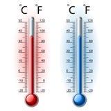 De reeks van de thermometer Stock Foto's