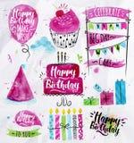 De reeks van de verjaardag royalty-vrije illustratie