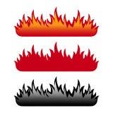 De reeks van de vlam Royalty-vrije Stock Afbeeldingen