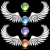 De Reeks van de Vleugel van het chroom vector illustratie