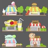 De reeks van de voedselwinkel Royalty-vrije Stock Fotografie