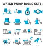 De reeks van de waterpomp royalty-vrije illustratie