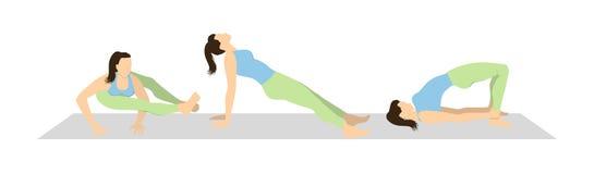 De reeks van de yogatraining Stock Foto