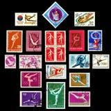De Reeks van de Zegels van de gymnastiek Stock Fotografie