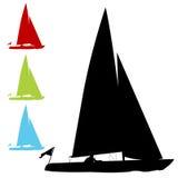 De Reeks van de zeilboot vector illustratie