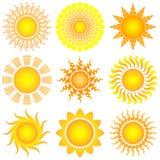 De reeks van de zon Royalty-vrije Stock Foto's