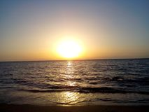 De reeks van de zon stock afbeelding