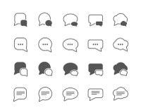 De reeks van dialoogbellen vlakke vectorpictogrammen Royalty-vrije Stock Foto's